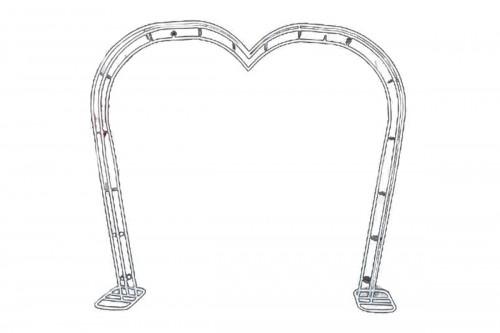 Arco in ferro bianco a forma di Cuore