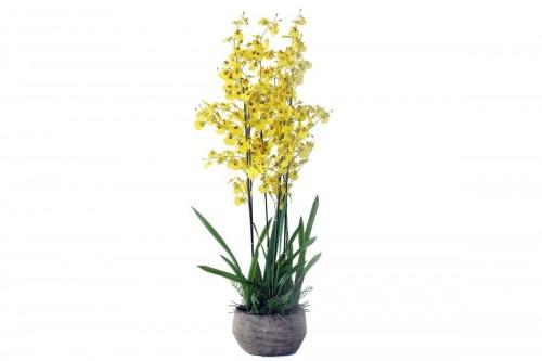 Pianta Orchidea Oncidium a 351 Fiori Artificiale Real Touch Altezza 130 cm