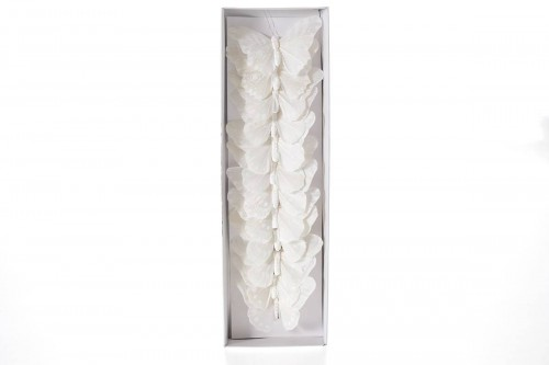 Farfalle bianche 10cm