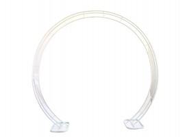 Arco tondo in metallo colore bianco. 220 x 230 cm