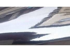 Tappeto rotolo passatoia, effetto specchiato, argento incolore, misura 1,4 x 20 mt
