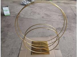 """Struttura doppio cerchio """"Event"""" set da 80 e 120 cm. Colore oro"""