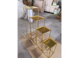 Alzate Cubo in metallo set da 4 pz mis 40,60,80,100 cm. Colore oro