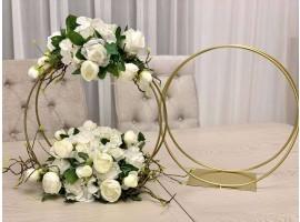 """Struttura doppio cerchio """"Event"""" set da 80 e 60 cm. Colore oro"""