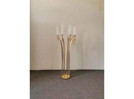 """Candeliere """"Event"""" a 8 luci, in metallo, altezza 110 cm. Colore oro"""