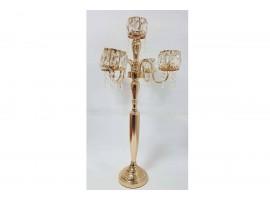 Candeliere dorato a 5 bracci. H140