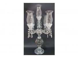 Candeliere in Vetro Trasparente a 5 bracci h 56 cm