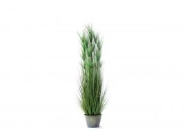 Pianta Artificiale di Papiro Verde con vaso di plastica. Altezza 152 cm