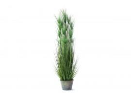 Pianta Artificiale di Papiro Verde con vaso di plastica. Altezza 182 cm