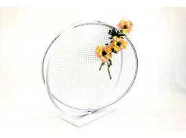 """Cerchio """"Love"""" in metallo, diametro 80 cm. Colore bianco"""