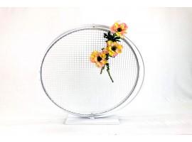 """Cerchio """"Love"""" in metallo, diametro 60 cm. Colore bianco"""