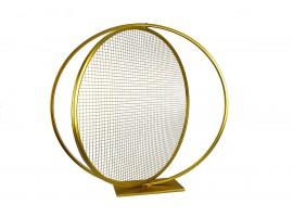 """Cerchio """"Love"""" in metallo, diametro 60 cm. Colore oro"""